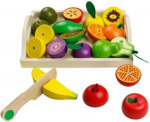 Juguete Montessori para cortar frutas