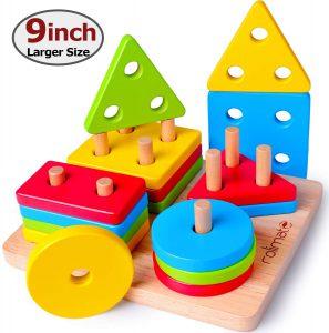 Juguetes Montessori para apilar y encajar