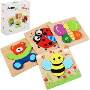 Puzzles de animales al estilo Montessori