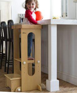 Torre de aprendizaje convertible en pupitre