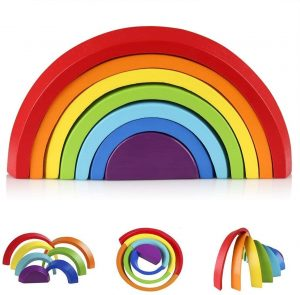 Arcoiris Montessori apilable Afunti