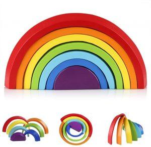 Arcoiris Montessori de madera Coogam