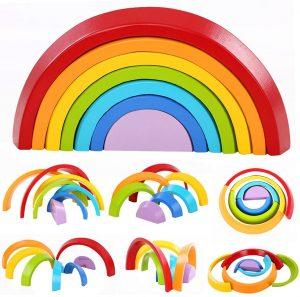 Bloques de construcción en forma de arcoiris Lewo