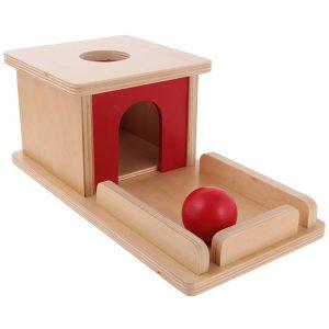 Caja de permanencia Montessori con bandeja