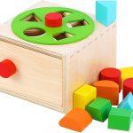 Caja de permanencia Montessori con rueda giratoria