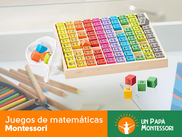 Juegos de matemáticas montessori