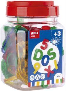Letras y números transparentes APLI Kids