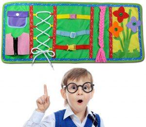 Libro sensorial Montessori para habilidades básicas