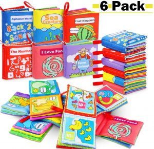 Libros sensoriales Montessori para bebés
