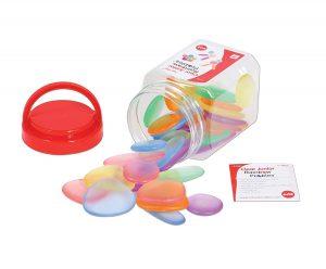 Piedras de colores transparentes