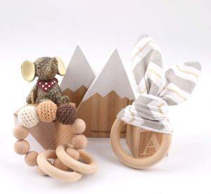 Sonajeros Montessori tipo pulseras