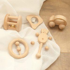 Sonajeros de madera para bebés
