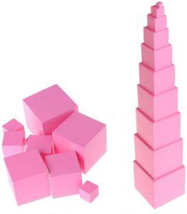 Torre rosa Montessori MiSha