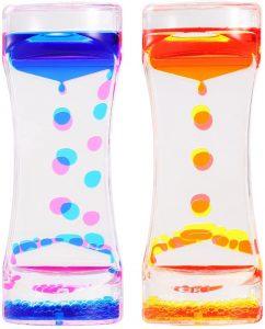 Botellas sensoriales de movimiento líquido