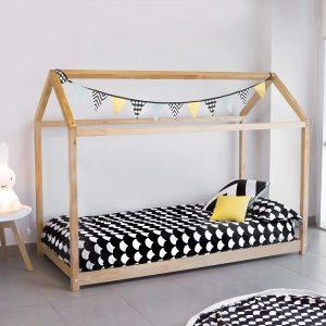 Cama Montessori 90x190 cm en acabado natural