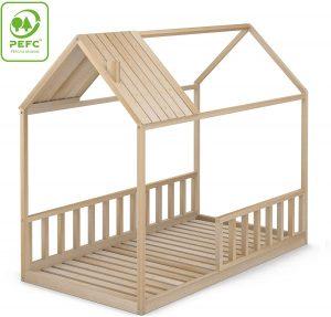 Cama Montessori con barandillas laterales