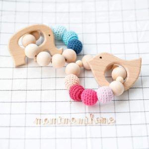 Mordedores de madera para bebés