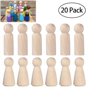 Set de muñecos Montessori inacabados ULTINICE