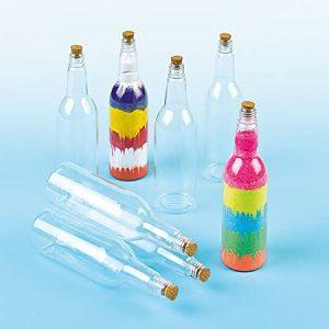 Botellas de plástico con tapón de corcho