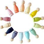 Kit de muñecos Montessori arcoiris Ticumiku