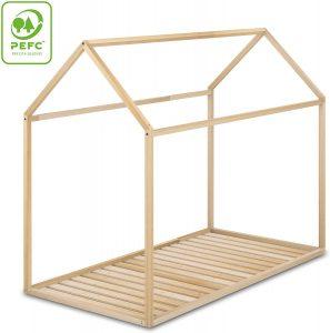 Cama Montessori 90x190 en forma de casita