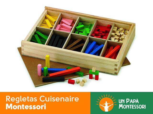 Regletas Cuisenaire Montessori