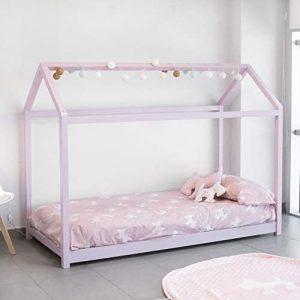 Cama Montessori rosa para niñas