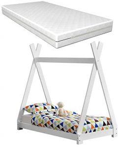 Cama estilo Montessori con colchón hipoalergénico