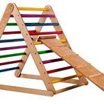Triángulo Pikler con escaleras de arcoíris